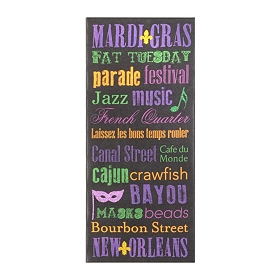Mardi Gras Canvas Art Print