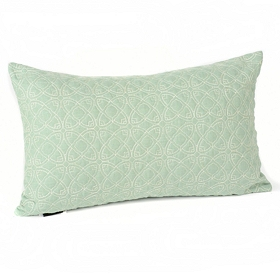 Dalia Aqua Oblong Accent Pillow