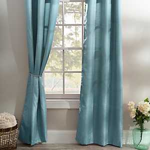 Solid Teal Curtain Panel Set, 96 in.