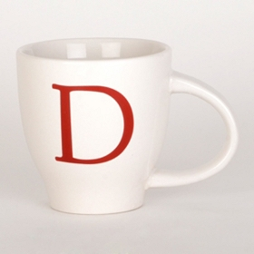 Red Monogram D Mug