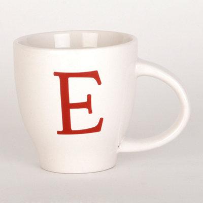 Red Monogram E Mug