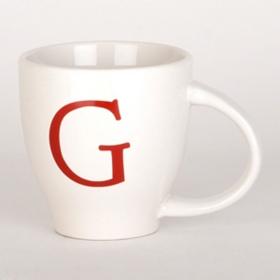 Red Monogram G Mug