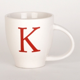 Red Monogram K Mug