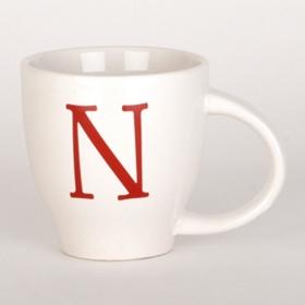 Red Monogram N Mug