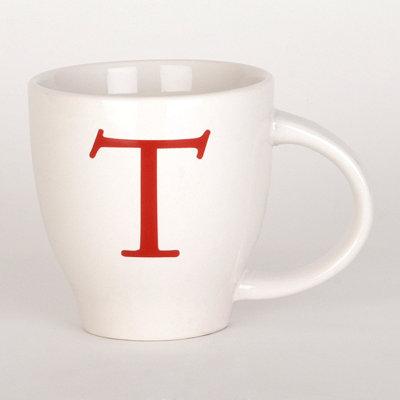 Red Monogram T Mug
