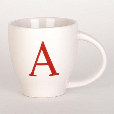 Red Monogram A Mug
