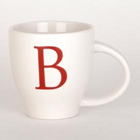 Red Monogram B Mug