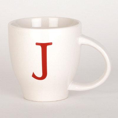 Red Monogram J Mug