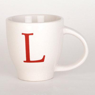 Red Monogram L Mug