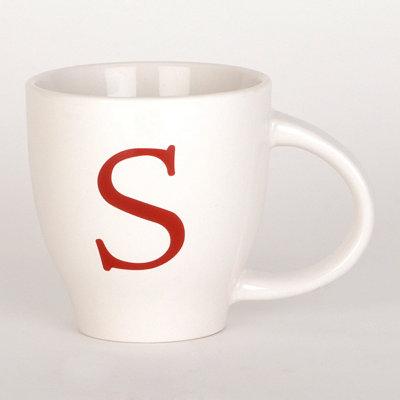 Red Monogram S Mug