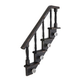 Black Staircase Wall Hook