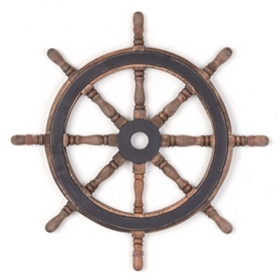 Ship's Wheel Wall Plaque