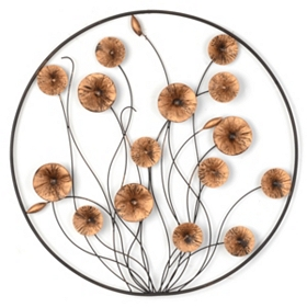 Majestic Floral Metal Wall Art