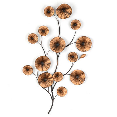 Majestic Floral II Metal Wall Art