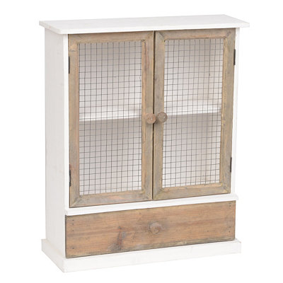 Country White Wall Cabinet