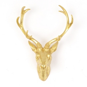 Golden Stag Wall Plaque