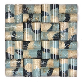 Blue Sky Tiles Abstract Wall Plaque