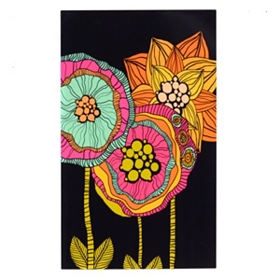 Electric Flowers Wall Plaque