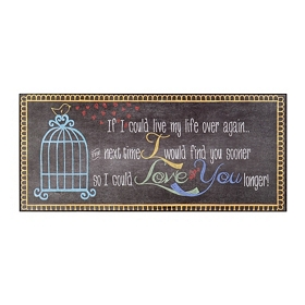 Love You Longer Wall Plaque