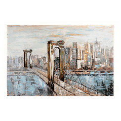 Deep Blue Bridge Canvas Art Print