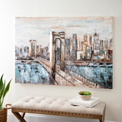 Deep Blue Bridge Canvas Art Print