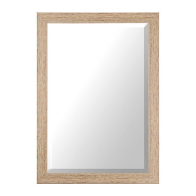 Distressed Cream Framed Mirror, 32x44 in.
