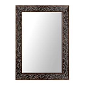 Embossed Distressed Black Framed Mirror, 32x44 in.