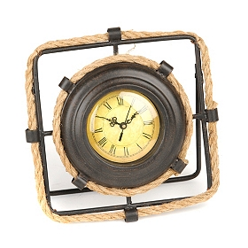 Rope & Metal Tabletop Clock