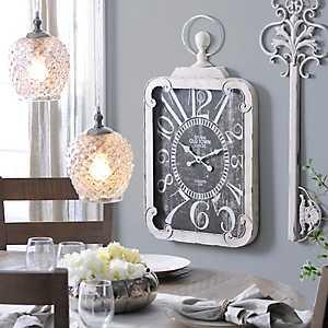 Margie Antique White Clock