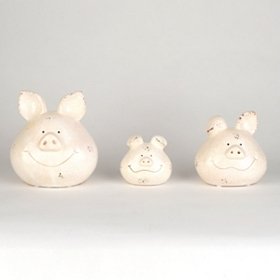 Happy Pigs Statues, Set of 3