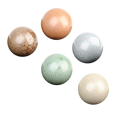 Frost-Glazed Ceramic Orbs