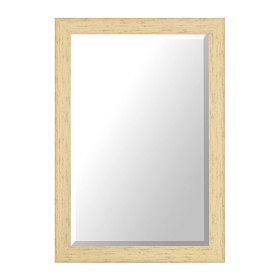 Distressed Cream Framed Mirror, 30x42 in.