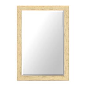 Distressed Cream Framed Mirror, 30x42 in.