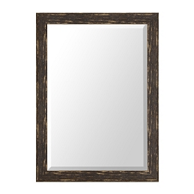 Distressed Black Framed Mirror, 30x42 in.