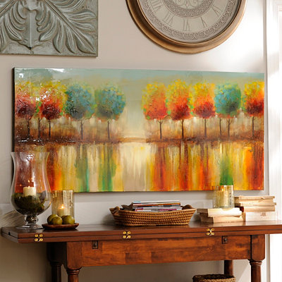 Tree Reflections Canvas Oil Painting