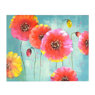 Vibrant Floral Canvas Oil Painting