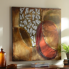 Abstract Circles Canvas Oil Painting