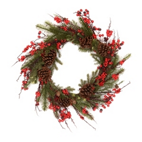 Red Berry Cedar Wreath
