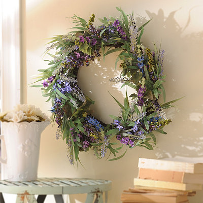 Lavender Berry Wreath