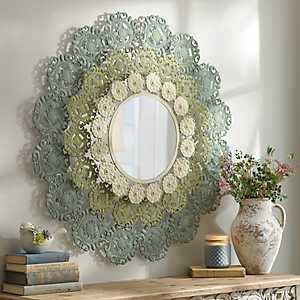Leila Metal Lace Mirror