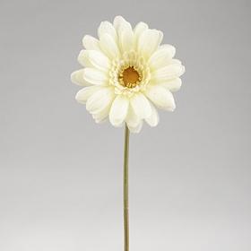 White Burlap Daisy Stem