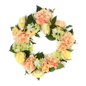Spring Peony & Hydrangea Wreath, 22 in.
