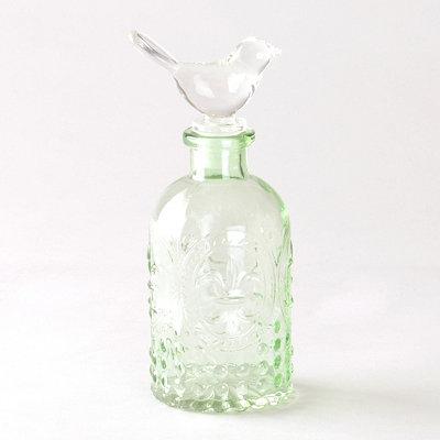 Green Bird Topper Glass Jar