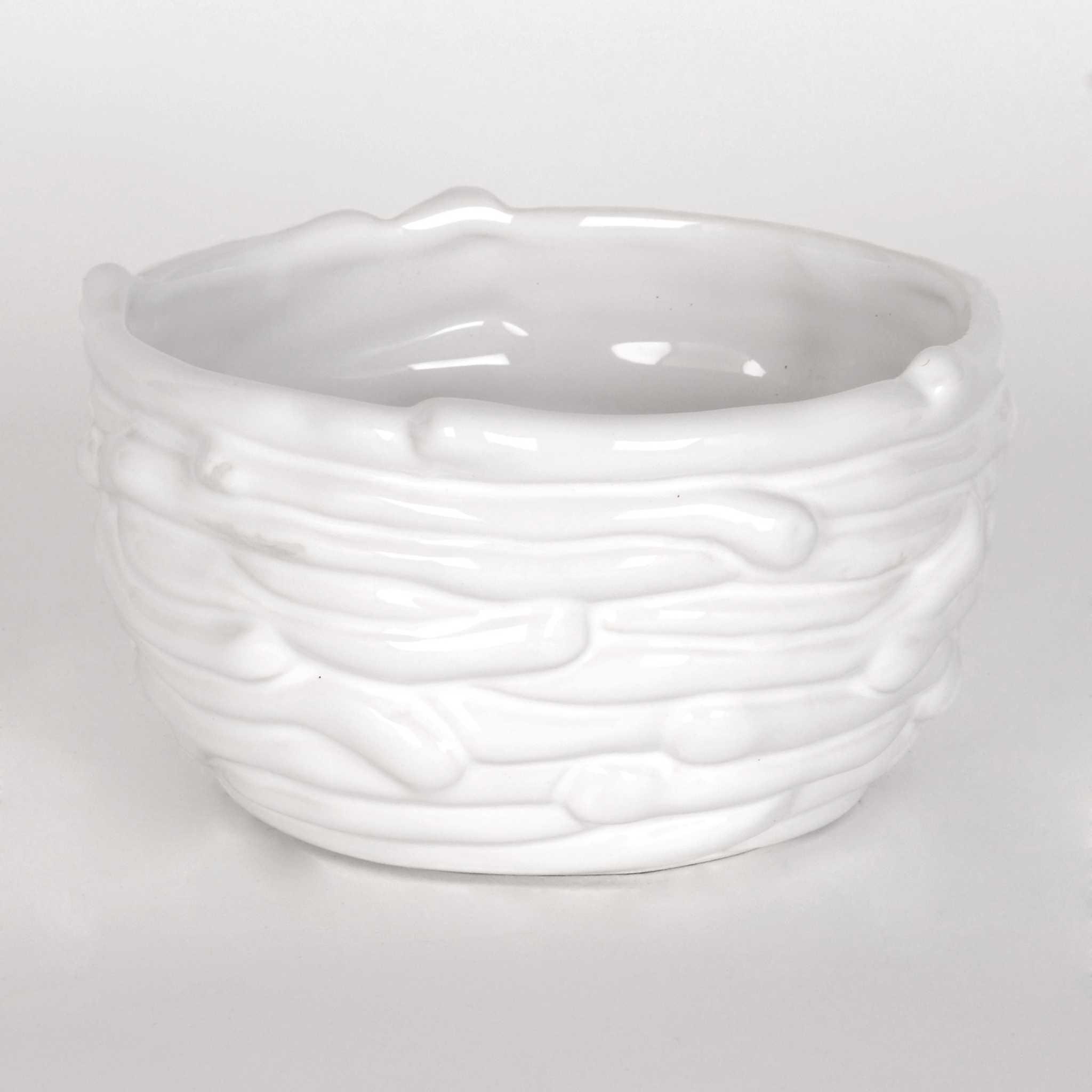 white dolomite nest bowl kirklands. Black Bedroom Furniture Sets. Home Design Ideas