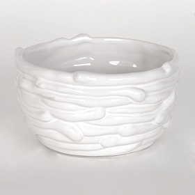 White Dolomite Nest Bowl