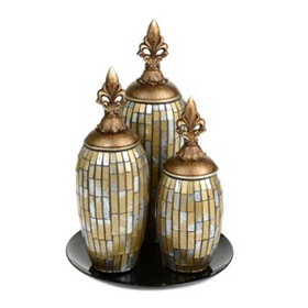 Mosaic Bling Jars, Set of 3