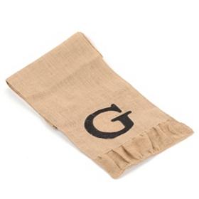 Burlap Monogram G Table Runner