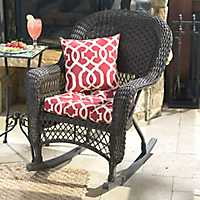 Savannah Brown Wicker Rocker