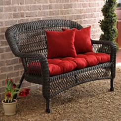 Savannah Brown Wicker Settee