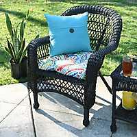 Savannah Brown Wicker Chair